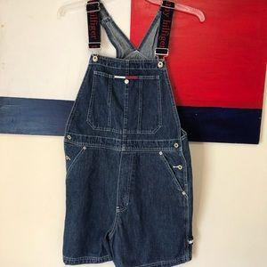 Vintage Tommy Hilfiger Denim Overall Bib Shorts